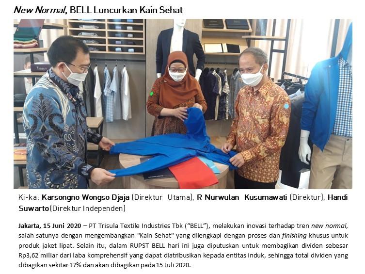 BELL Pendapatan Trisula Textile Tumbuh 14,78%   Neraca.co.id