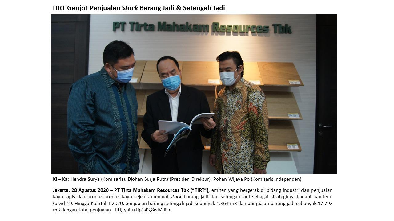 TIRT Pasar Ekspor Kena Lockdown - Penjualan Tirta Mahakam Anjlok 62,24% | Neraca.co.id