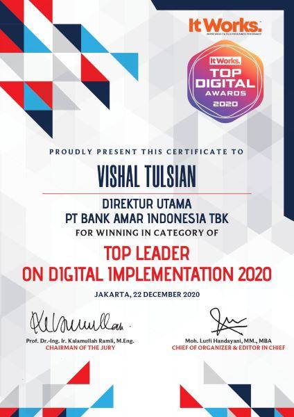 AMAR Amar Bank Raih 2 Penghargaan TOP Digital Awards 2020 | Neraca.co.id